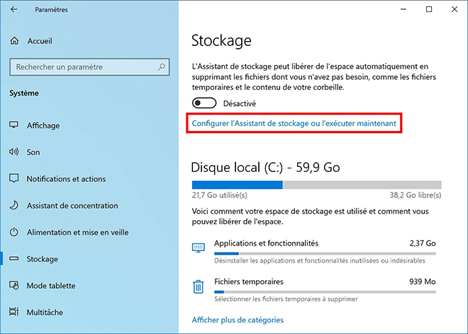 Supprimer le dossier Windows.old