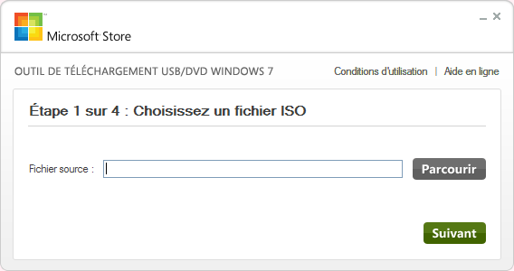 Installer Windows 7 depuis une clé USB