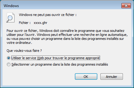 Corriger les associations de fichiers sous Windows 7